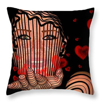 Mask Of Valentine Throw Pillow