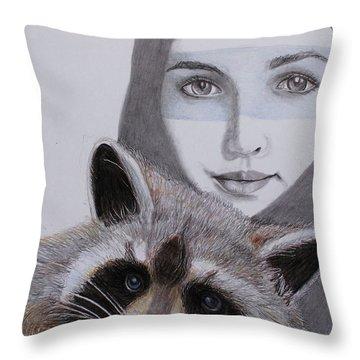 Masks Throw Pillow