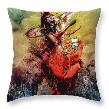 Masochistic Artist.  Throw Pillow