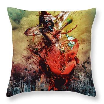 Bleeding Throw Pillows