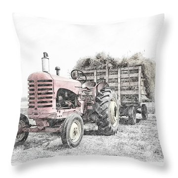 Massey Harris Throw Pillow