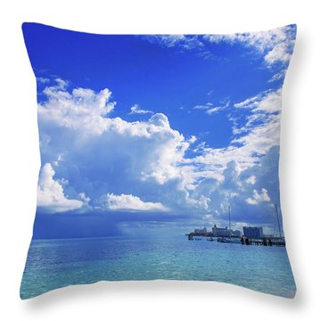 Massive Caribbean Clouds Throw Pillow