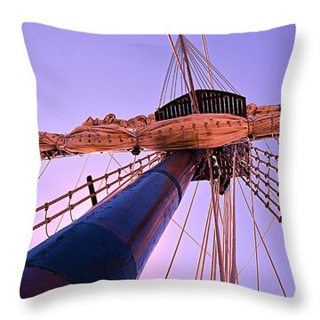Throw Pillow featuring the photograph Mast And Sails by SimplyCMB
