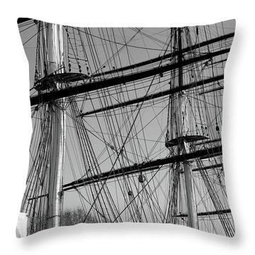 Masts And Rigging Of The Cutty Sark Throw Pillow