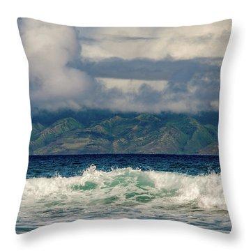 Maui Breakers II Throw Pillow
