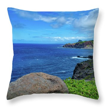 Maui Coast II Throw Pillow