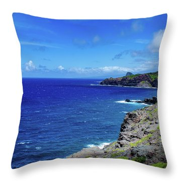 Throw Pillow featuring the photograph Maui Coast by Jeff Phillippi