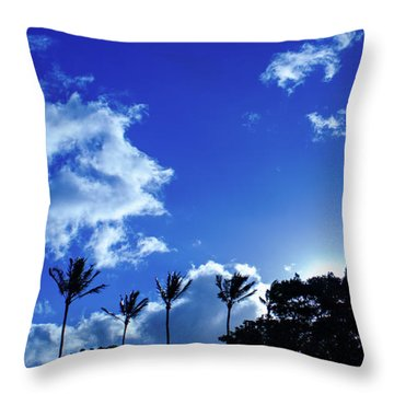 Throw Pillow featuring the photograph Maui Sky by Jeff Phillippi