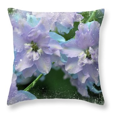Mauves And Blues Throw Pillow