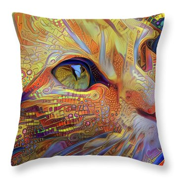 Max The Ginger Cat Throw Pillow