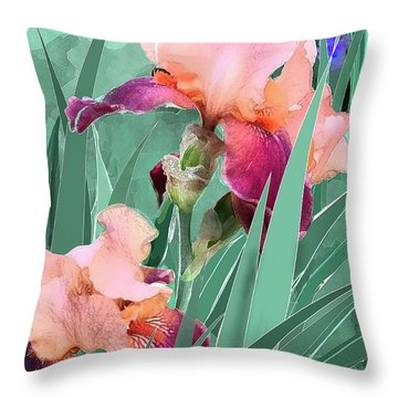 May Garden Throw Pillow