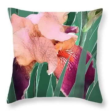 Throw Pillow featuring the digital art May Garden by Gina Harrison