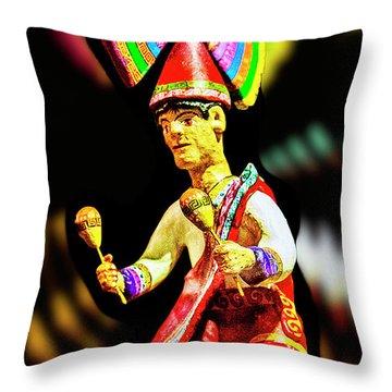 Mayan Dancer Throw Pillow