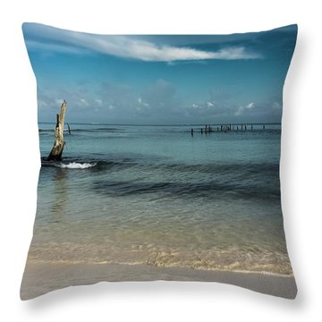 Mayan Shore 3 Throw Pillow