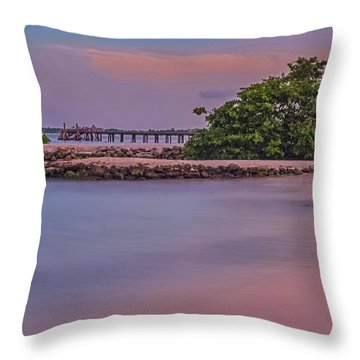 Mayan Shore Throw Pillow