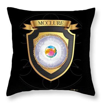 Mcclure Family Crest Throw Pillow
