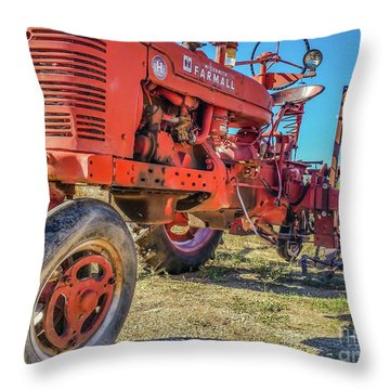 Mccormick Farmall Throw Pillow