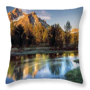 Mcgown Peak Sunrise  Throw Pillow