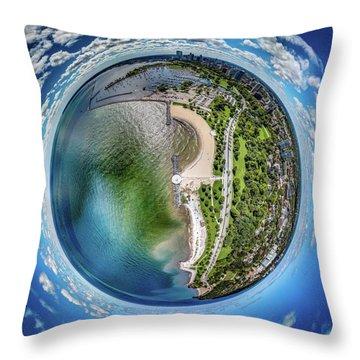 Throw Pillow featuring the photograph Mckinley Park Little Planet by Randy Scherkenbach