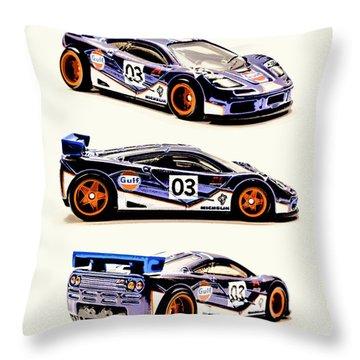 Race Car Throw Pillows