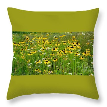 Meadow Flowers 1 Throw Pillow