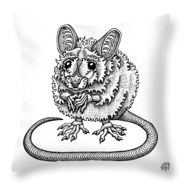 Meadow Jumping Mouse Throw Pillow