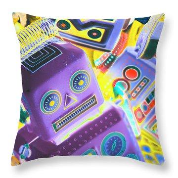 Mechanic Al Pop-art Throw Pillow