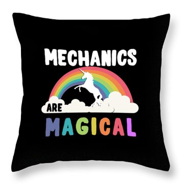 Throw Pillow featuring the digital art Mechanics Are Magical by Flippin Sweet Gear