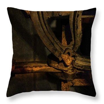 Throw Pillow featuring the photograph Mechanism by Juan Contreras