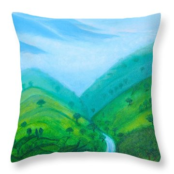 Throw Pillow featuring the painting Medellin Natural by Gabrielle Wilson-Sealy