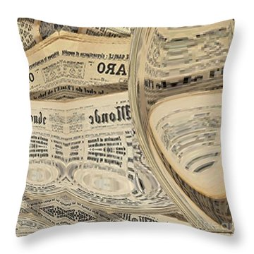 Throw Pillow featuring the mixed media Media by A zakaria Mami