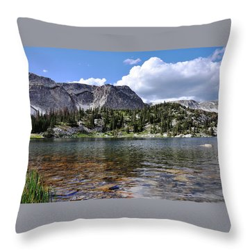 Medicine Bow Peak And Mirror Lake Throw Pillow