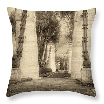 Medieval Bridge Throw Pillow