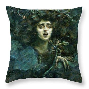 Medusa, 1892 Throw Pillow