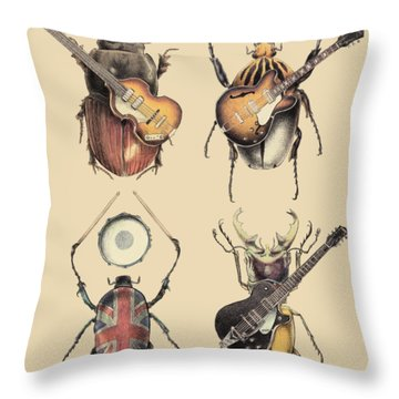 Meet The Beetles Throw Pillow