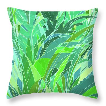 Throw Pillow featuring the digital art Melange by Gina Harrison