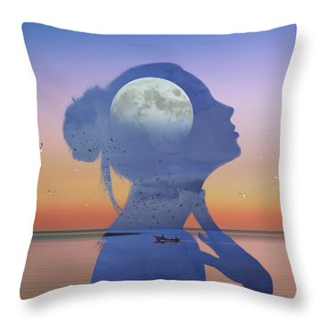 Melting Night Throw Pillow
