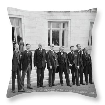Members Of The World Disarmament Throw Pillow