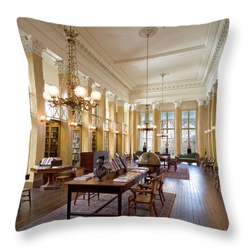 Members' Reading Room Throw Pillow