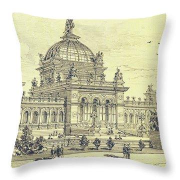 Memorial Hall, Centennial Throw Pillow