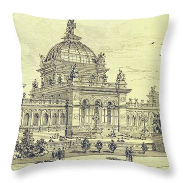 Memorial Hall, Centennial Throw Pillow