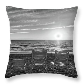 Throw Pillow featuring the photograph Memories In Black And White by Lynn Bauer