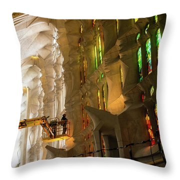 Throw Pillow featuring the photograph Men At Work by Alex Lapidus