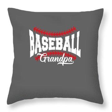 Mens Baseball Grandpa T-shirt Throw Pillow