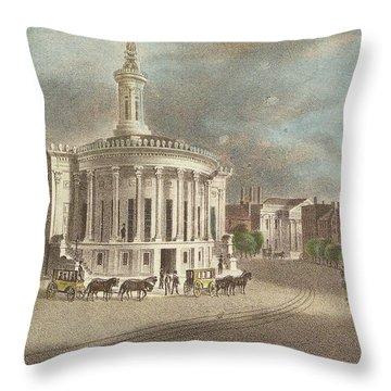 Merchants Exchange, 1838 Throw Pillow