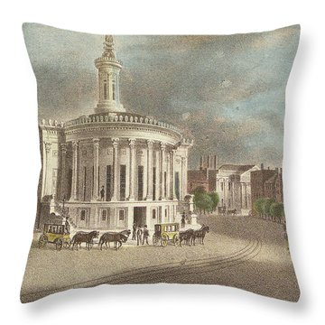 Merchants Exchange, 1838 Throw Pillow