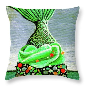 Mermaid Cupcake Throw Pillow