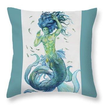 Merman Clyde Throw Pillow
