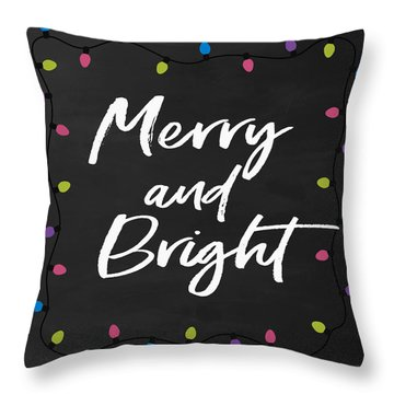 Merry And Bright 2- Art By Linda Woods Throw Pillow