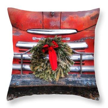 Merry Christmas Texas Throw Pillow